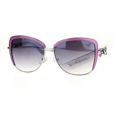 Vintage Designer Oversized Square Butterfly Frame Womens Sunglasses Purple