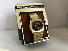 Bulova N6 RED  LED Quartz Digital Colvectible Watch