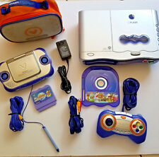 VTech V.Flash and V.Smile Learning Systems 1 Controller 2 Games Carry Case AS IS