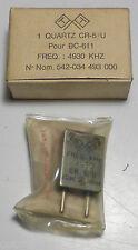 BC611: quartz CR5/U NOS en boite d'origine fréquence 4930 KHz