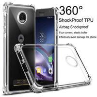 Clear Rubber Gel Soft TPU Back For Motorola Moto G7 G4 G5 G6 E4 E5 Z3 Case Cover