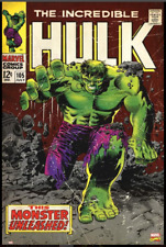 CLASSIC poster THE INCREDIBLE HULK green GROWLING flexing MUSCLES 24X36-PY2