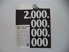 advertising Pubblicità 1974 FS FERROVIE DELLO STATO TRENI