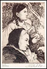 Josef Kabrt C3 Exlibris Bettine von Arnim Woman s136