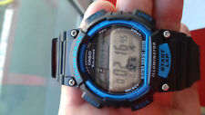 Casio BLACK AND BLUE TOUGH SOLAR RUNNING WATCH LAP MEMORY 120 MONTRE OROLOGIO