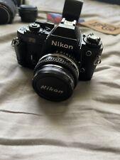Nikon Fg 35mm Vintage Film Camera W/ Accessories