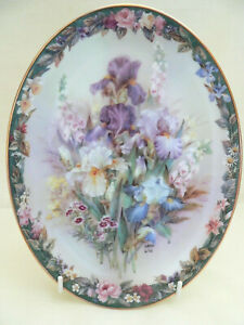 """Collectable Floral Plate """"Cherished"""" Third Issue in Lena Liu's Floral Cameos"""