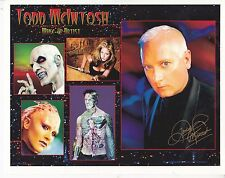 TODD McINTOSH HAND SIGNED 10 x 8 INCH COLOUR PHOTOGRAPH FAMOUS MAKE UP ARTIST