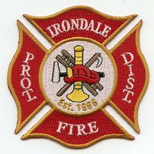 IRONDALE PROTECTION DISTRICT MISSOURI MO FIRE PATCH