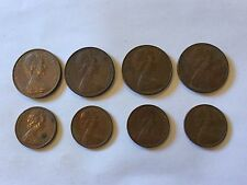 1976, 1977, 1978, 1979 1c and 2c Coins Set - Fast And Free Postage