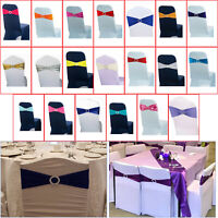 Chair Cover Band Elasticity Stretch with Buckle Slider for Banquet Wedding Party