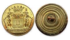 Bouton de Livrée/ Livery button- Marquis DE MALET DE COUPIGNY. 27 mm. Plat. Doré