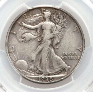 1938-D PCGS VF Details Better Date Walking Liberty Silver Half Dollar Very Fine