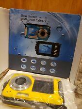 Double Screens LCD Waterproof 2.7inch Camera 24MP Full HD (blue) f=8.15mm F3.0