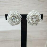 Vintage Clear Glass crystal Nest Maria Calderara Earring