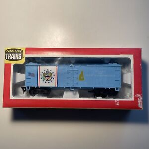 Life-Like: State of NEW HAMPSHIRE Reefer Boxcar 1776, VINTAGE HO SCALE, RP104