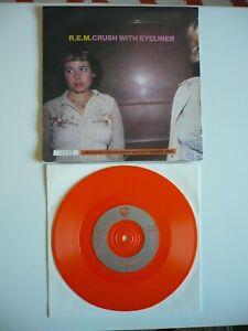 "R.E.M. Crush With Eyeliner 7"" Orange Vinyl UK 1995 Single With Calandar Cover EX"