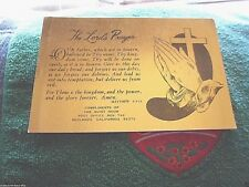 Vintage Catholic Holy Bible Prayer Card  Gold Guild  The Lord's Prayer