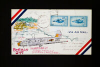 US Hand Painted Stamped and Signed Boeing Cover