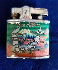 "LONGIN  LIGHTER  ""Memory of Japan"" Vintage Lighter Hiroshima Tokyo Yokohama"