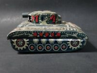 Vintage ALPS Super M-4 Tank Japan Tin Litho Friction Military Toy