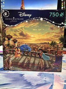 Thomas Kinkade Disney Puzzle: Jasmine Dancing in the Desert Sunset
