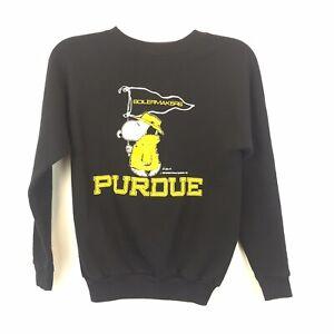VINTAGE Artex Snoopy Purdue Sweatshirt  Youth 14-16 EUC Unisex Black