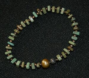 SILPADA - B1799 - Blue-Green Howlite Shell Pearl Bracelet - ONE SINGLE