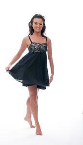 Black Sparkly Sequin Short Lyrical Dress Contemporary Ballet Dance Costume Katz