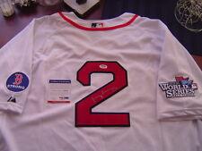 BOSTON RED SOX JACOBY ELLSBURY signed BOSTON STRONG 2013 WORLD SERIES JERSEY PSA