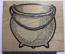 LARGE CAST-IRON POT wood-mounted rubber stamp by Museum of Modern Rubber