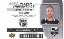 JEFF CARTER 2018-19 18-19 UPPER DECK MVP PLAYER CREDENTIALS #NHL-JC KINGS