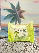 Aveeno Positively Radiant Makeup Removing Wipes, { 25 Count } New/Sealed