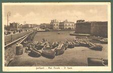Puglia. GALLIPOLI. Mar Piccolo. Il Ponte. Cartolina d'epoca viaggiata nel 1947.