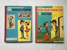 MODESTE ET POMPON BONJOUR 1 & 2 60 MESAVENTURES / FRANQUIN / LOT BD EO / LOMBARD