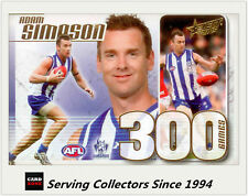 2015 AFL Champions L.E 300 Game Case Card CC55 Adam Simpsons (Nth Nelbourne)