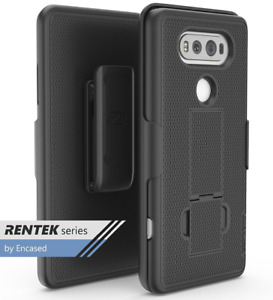 LG V20 Belt Clip Case, DuraCLIP [secure-fit] Holster w/ Slim Cover (Black)