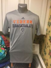 Detroit Tigers MLB Adidas Climalite T-Shirt Boys XL 18-20 Gray Polyester