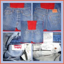 LEVIS 501 JEANS RED TAB BUTTON FLY STRAIGHT FADED BLUE MENS SIZE 34 X 34