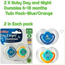 Nûby Soother Pacifier Dummy 0-18 Months Night Time Glow In The Dark