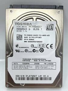 "Toshiba MK2556GSY 250GB SATA II 3.0Gb/s 2.5"" Internal Laptop Hard Disk Drive HDD"