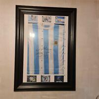 Maglia maradona autografata Doppio Coa Maradona Jersey Signed Double COA. QRCODE