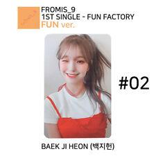 FROMIS_9 - FUN FACTORY Official Photocard - BAEK JI HEON #02 (FUN Ver.)