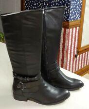 NEW BARE TRAPS TATIANA BLACK TALL RIDING  BOOTS WOMENS 8 KNEE HIGH