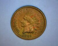 1864 INDIAN HEAD CENT COPPER NICKEL A/U DETAILS RAINBOW TONING  US  COIN