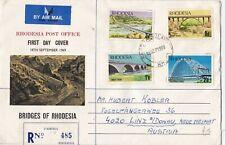 18/9/1969 Rhodesia FDC - Bridges of Rhodesia - Famona Postmark