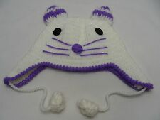 LITTLE MOUSE - HAND KNITTED - INFANT/TODDLER SIZE - BEANIE HAT STOCKING CAP!