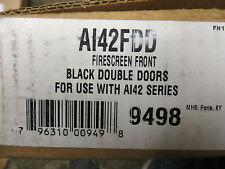 Lexington Forge ASHTON SERIES AI42DV FIRESCREEN DOUBLE DOOR PKG-BLACK