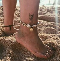 Natural Shell Bead Anklet Cord Bracelet Boho Surf Foot Bangle Holiday Jewelry