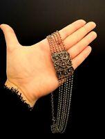 Heavy Vintage 50s Kropfkette Goiter Chain BAS Blachian 925 Silver Necklace 52.6g